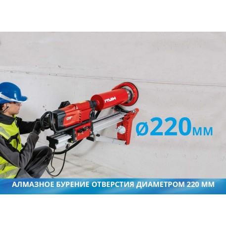 Алмазное бурение отверстия диаметром 220 мм 1