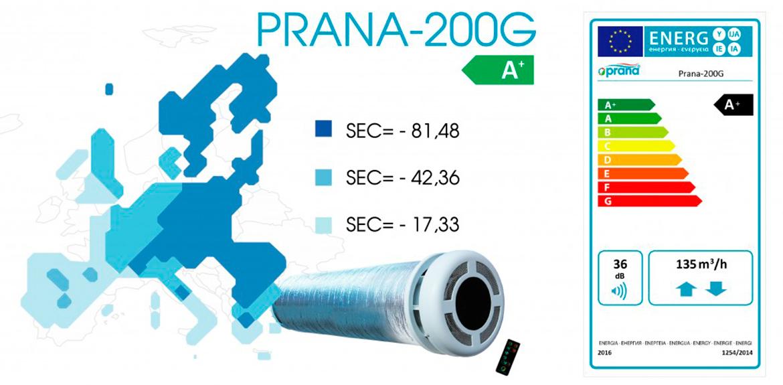 Рекуператор Prana 200G энергоэффективность