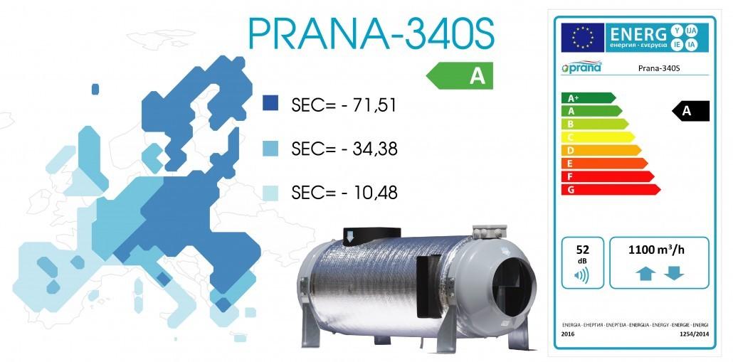 Рекуператор Prana 340S енергоэффективность